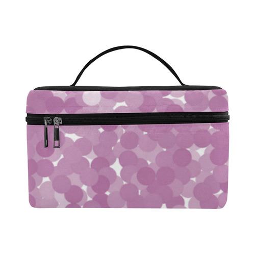 Bodacious Polka Dot Bubbles Cosmetic Bag/Large (Model 1658)
