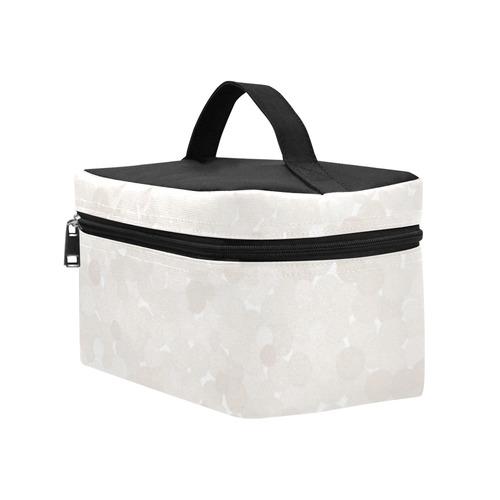 Bridal Blush Polka Dot Bubbles Cosmetic Bag/Large (Model 1658)