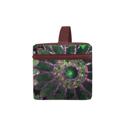 Mosaic Flower Pattern Cosmetic Bag/Large (Model 1658)