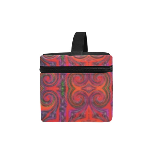Multicolored Red Cosmetic Bag/Large (Model 1658)