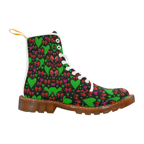 love hearts and roses Martin Boots For Women Model 1203H