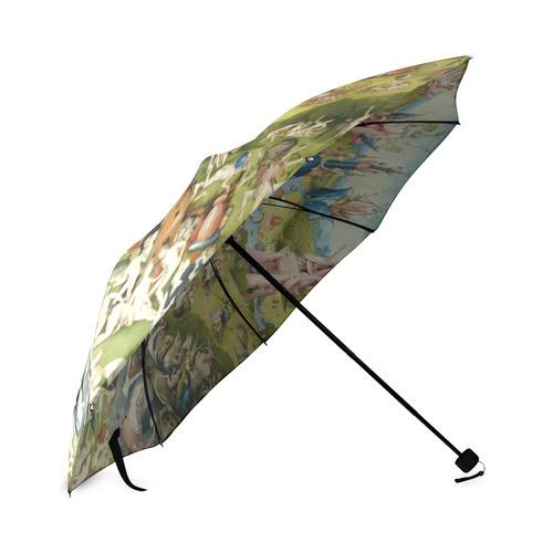Hieronymus Bosch The Garden Of Earthly Delights Foldable Umbrella (Model U01)
