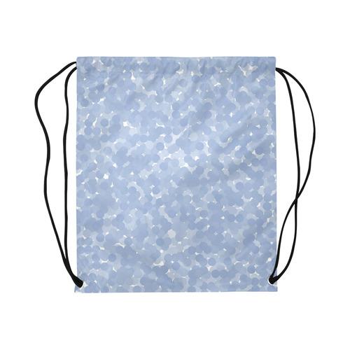 "Serenity Polka Dot Bubbles Large Drawstring Bag Model 1604 (Twin Sides)  16.5""(W) * 19.3""(H)"