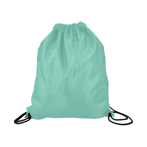 """Lucite Green Large Drawstring Bag Model 1604 (Twin Sides)  16.5""""(W) * 19.3""""(H)"""