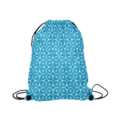 """My Lucky Day Blue Large Drawstring Bag Model 1604 (Twin Sides)  16.5""""(W) * 19.3""""(H)"""