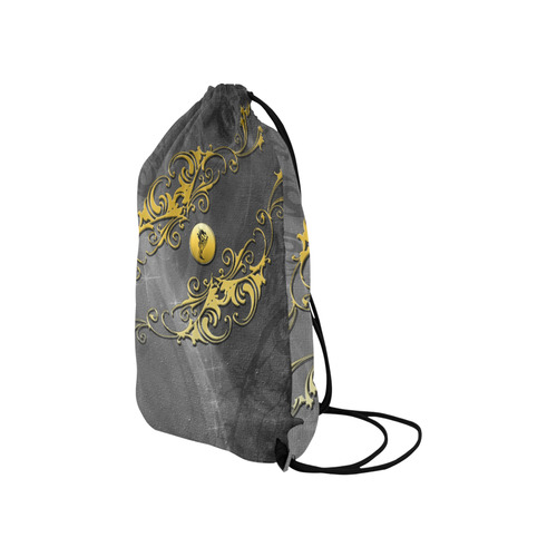 "Tribal dragon on yellow button Small Drawstring Bag Model 1604 (Twin Sides) 11""(W) * 17.7""(H)"