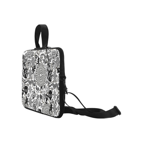 "Tribal Design Primitive Symbol Print Laptop Case Laptop Handbags 17"""