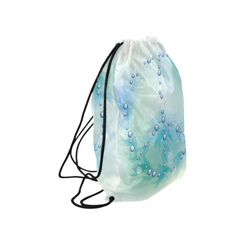 """Beautiful Blue Green Peace Sign Large Drawstring Bag Model 1604 (Twin Sides)  16.5""""(W) * 19.3""""(H)"""