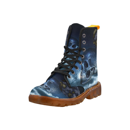 Skull and Moon Martin Boots For Women Model 1203H