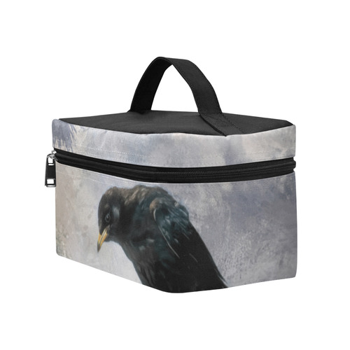 A beautiful painted black crow Cosmetic Bag/Large (Model 1658)