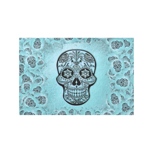 Skull20170238_by_JAMColors Placemat 12'' x 18'' (Four Pieces)
