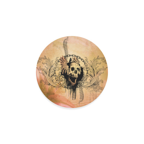 Amazing skull with wings Round Coaster