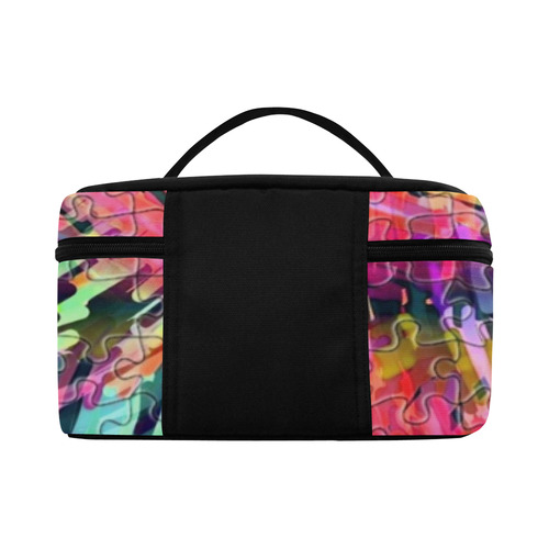 Pink Chaos Puzzle by Popart Lover Lunch Bag/Large (Model 1658)