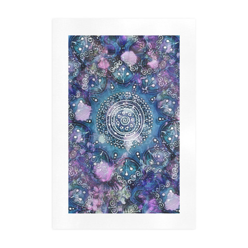 Blue Mandala Day Dream Art Print 19''x28''
