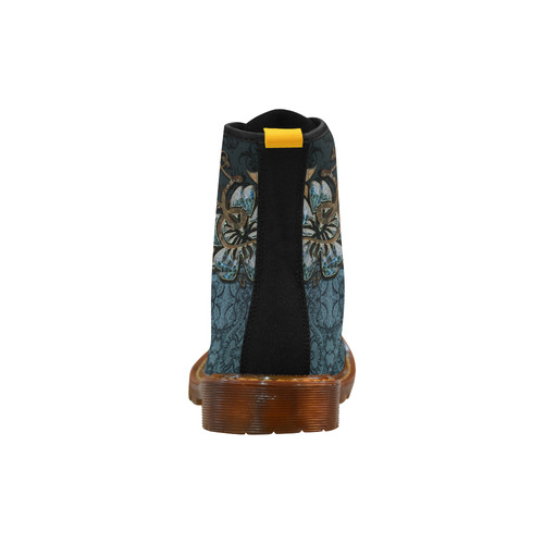 Beautidul vintage design in blue colors Martin Boots For Women Model 1203H