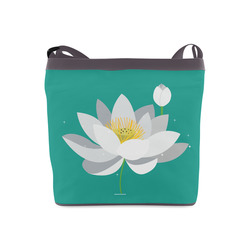 White lotus flower spiritual floral gifts artsadd white lotus flower spiritual floral crossbody bags model 1613 mightylinksfo