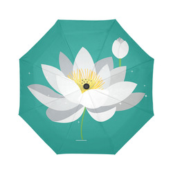 White lotus flower spiritual floral gifts artsadd white lotus flower spiritual floral auto foldable umbrella mightylinksfo