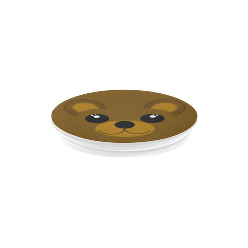 Cute Kawaii Brown Bear Smiley Air Smart Phone Holder