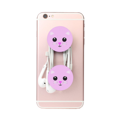 Cute Pink Kawaii Kitty Smiley Air Smart Phone Holder