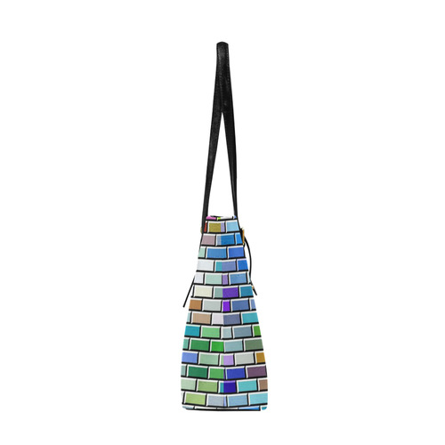 Modern Bricks I by JamColors Euramerican Tote Bag/Large (Model 1656)