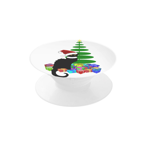 Christmas Le Chat Noir with Santa Hat Air Smart Phone Holder