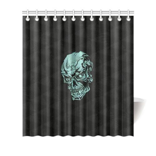 Skull On Quiltaqua Shower Curtain 66x72