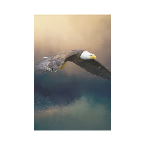 Painting flying american bald eagle Garden Flag 12''x18''(Without Flagpole)