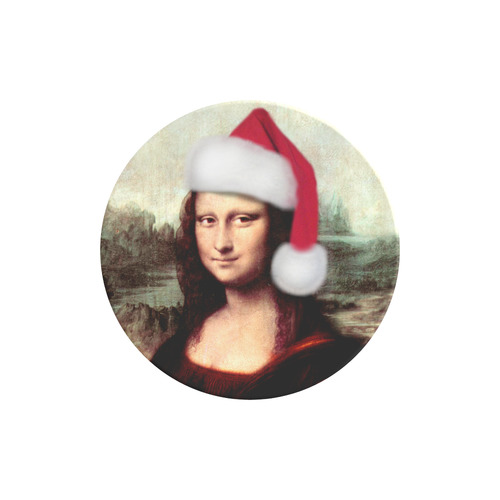 Christmas Mona Lisa with Santa Hat Air Smart Phone Holder