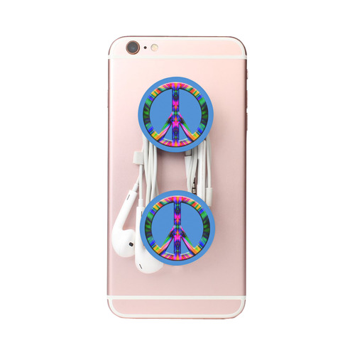Groovy Psychedelic Peace Sign Air Smart Phone Holder