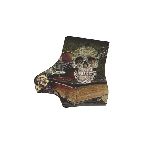 Funny Skull and Book Martin Boots For Women Model 1203H