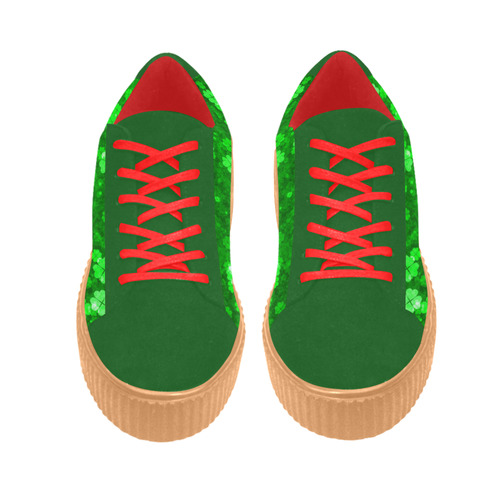 shamrocks 1 green by JamColors Suede Women Shoes (Model 306)