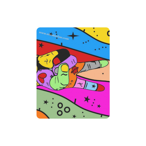 Peace Popart by Nico Bielow Rectangle Mousepad