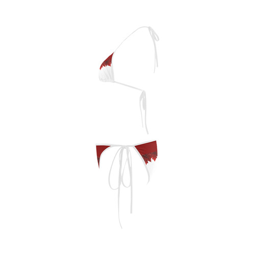 Canada Bikini Swimsuits Autumn Maple Leaves Bathing Suits Custom Bikini Swimsuit