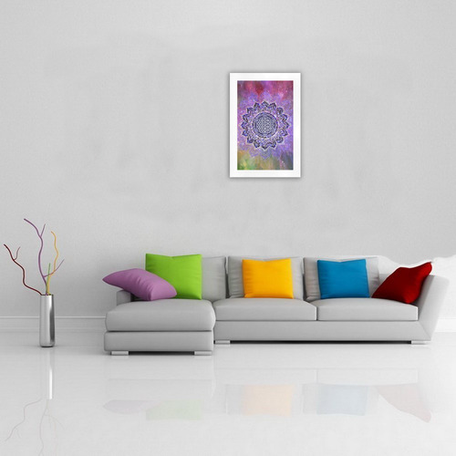 Flower Of Life Lotus Of India Galaxy Colored Art Print 19''x28''