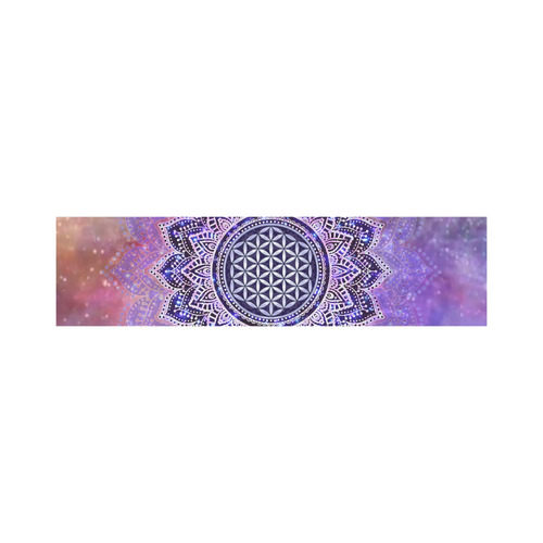 Flower Of Life Lotus Of India Galaxy Colored Cosmetic Bag/Large (Model 1658)