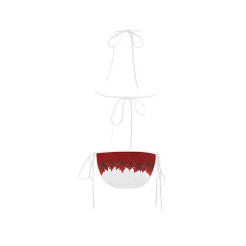 Canada Bikini Swimsuits Autumn Maple Leaves Bathing Suits Custom Bikini Swimsuit