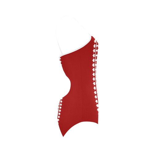 Canada Swimsuits Classic Canada Flag Bathing Suits Strap Swimsuit