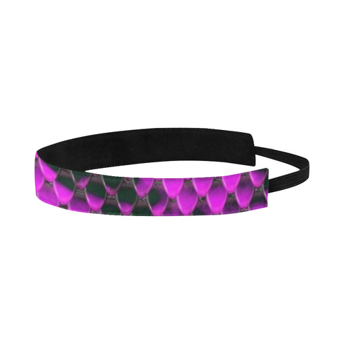 Snake Pattern A hot pink by JamColors Sports Headband