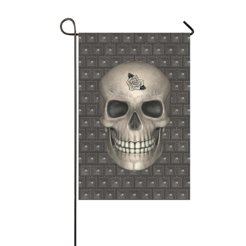 317 new Skull A by JamColors Garden Flag 12''x18''(Without Flagpole)
