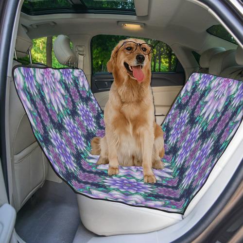 Lotus Flower Ornament - Purple and green Pet Car Seat 55''x58''