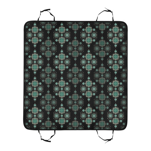 Green on black, pattern with atmosphere Pet Car Seat 55''x58''
