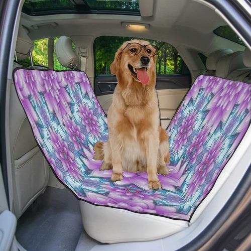 Lotus Flower Pattern - Purple and turquoise Pet Car Seat 55''x58''