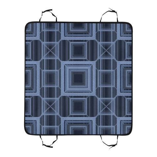 Serenity blue, Faux stitch Pet Car Seat 55''x58''