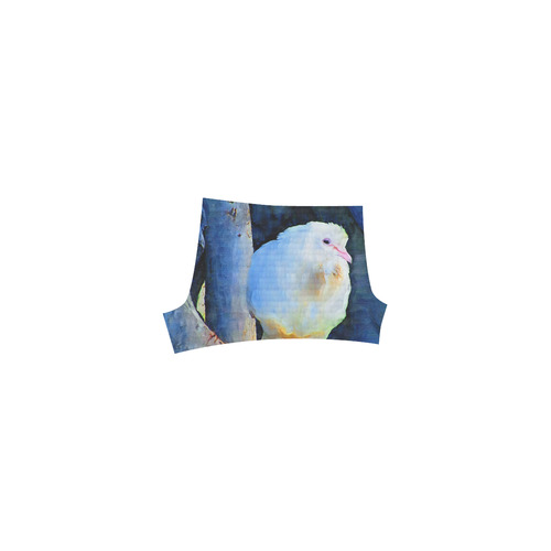 White Bird on Branch Briseis Skinny Shorts (Model L04)