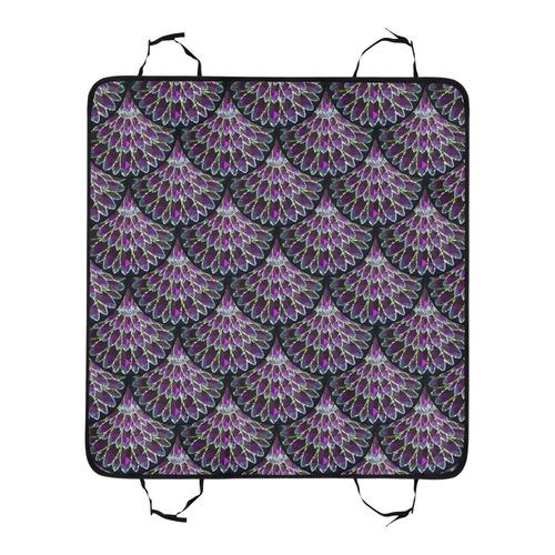 Mosaic flower, purple fish scale Pet Car Seat 55''x58''