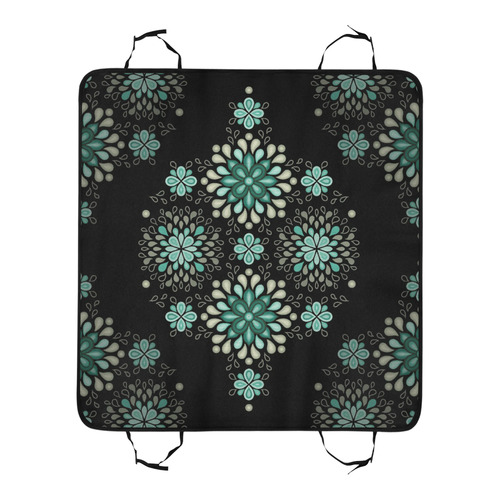 Green on black, seamless pattern with atmosphere New Pet Car Seat 55''x58''