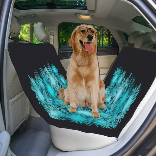 Abstract Turquoise Frosty flowers Pet Car Seat 55''x58''