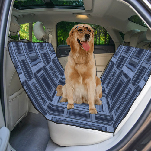 Serenity blue, Faux stitch Pet Car Seat 55''x58''