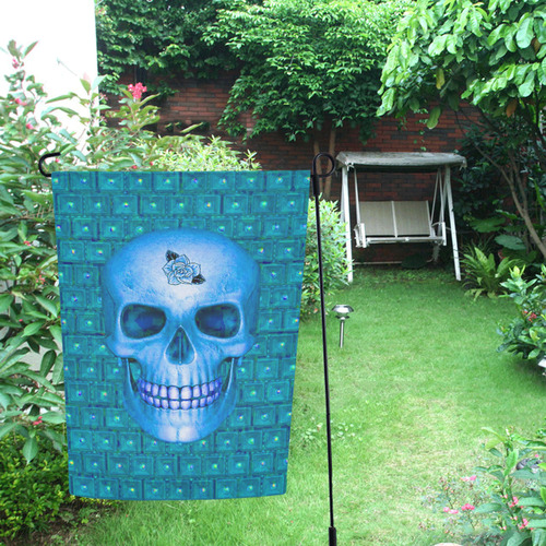 317 new Skull B by JamColors Garden Flag 12''x18''(Without Flagpole)
