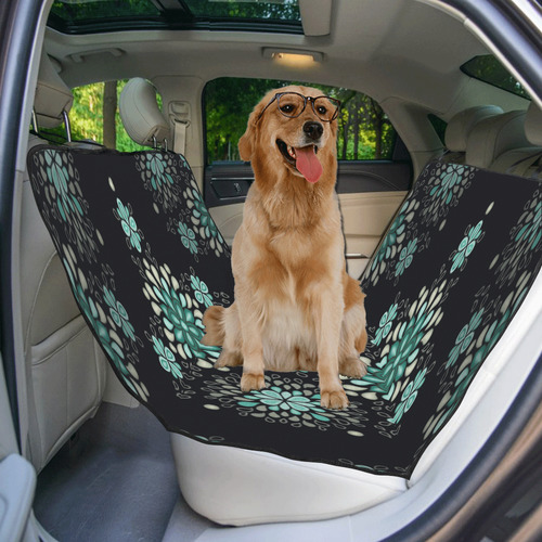 Green on black, seamless pattern with atmosphere Pet Car Seat 55''x58''